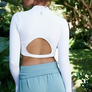 Free People Movement Finish Line Layer Crop Top